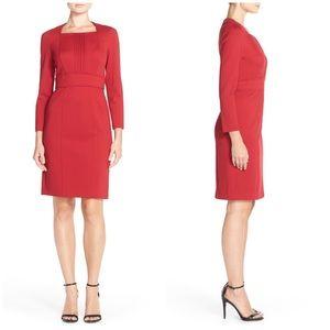 Adrianna Papell Pintuck Ponte Sheath Dress Size 4P